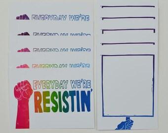 Everyday We're Resistin' 11 Postcard Set