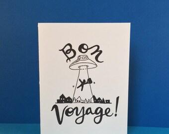UFO Bon Voyage Card