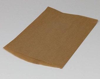 6db9734a2c 25 Brown Flat Paper Kraft Merchandise Favor Treat Retail Shopping Bags