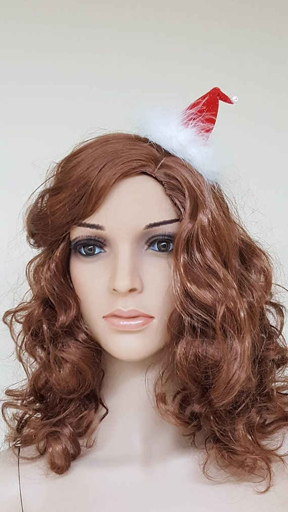 Mini Santa Hat Clip Barrette Christmas Elf Hat Fascinator Etsy