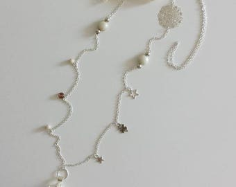 Necklace pregnancy bola - ivory lace