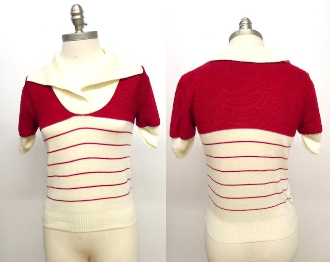 Vtg 80's Knit Polo