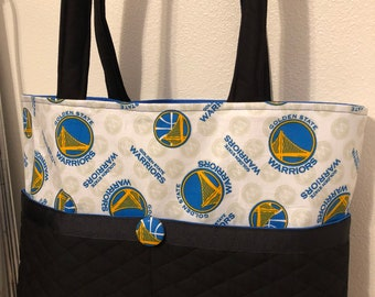 cd5027758b Golden State Warriors Tote Bag / Sac à couches vente vente guerriers /  monogramme / broderie inclus / Golden State sac / panier sac fourre-tout