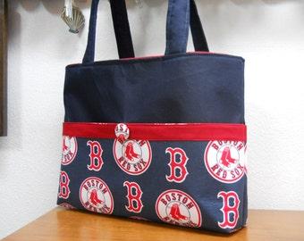 Boston Red Sox Tote Bag   Red Sox Diaper Bag   Monogram   Embroidery  INCLUDED   Boston Bag   Baseball Tote Bag   Sox b2cc1c4180