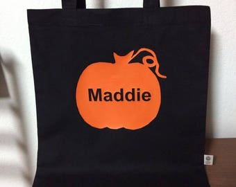 Trick or Treat Tote Bag / Candy Bag / Halloween Trick or Treat Bag