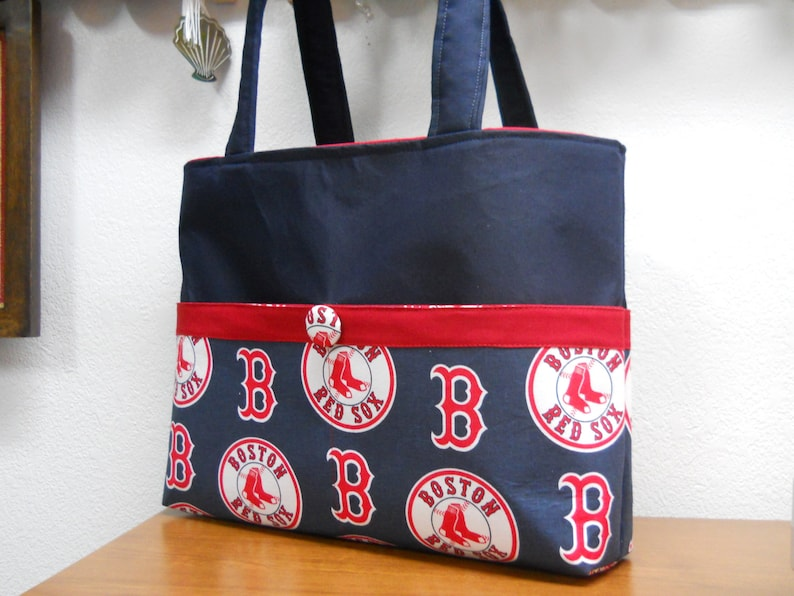 4b16af9a2a Boston Red Sox Tote Bag / Sac à couches Red Sox / monogramme | Etsy