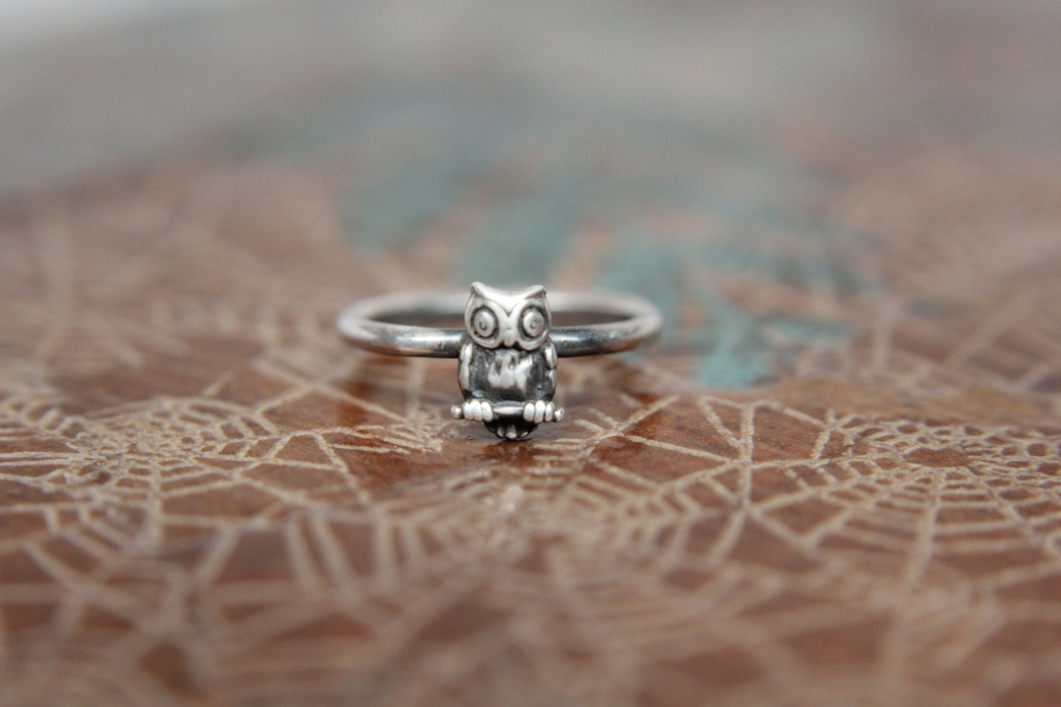 Dainty Little Perched Owl Stacking Ring. Wise Owl Stacking | Etsy