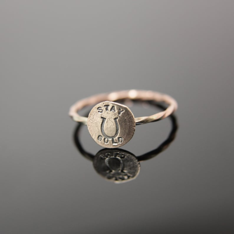 Stay Gold Ring 14k Gold Simple stacking ring in 14k rose gold image 0
