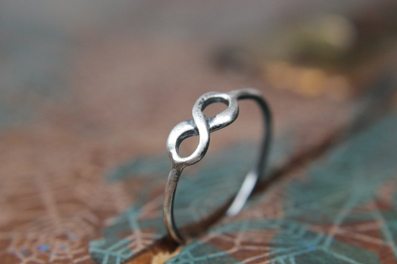 To Infinity Stacking Ring. Sterling silver infinity ring. image 0