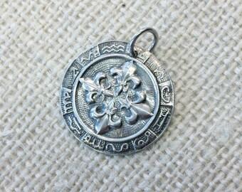 Pure Silver Fleur-de-Lis Pendant