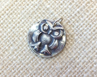 Pure Silver Hoot Owl