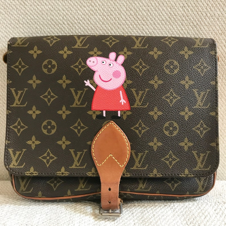 f8e727093 Peppa pig or any 2d character design on Louis Vuitton handbag