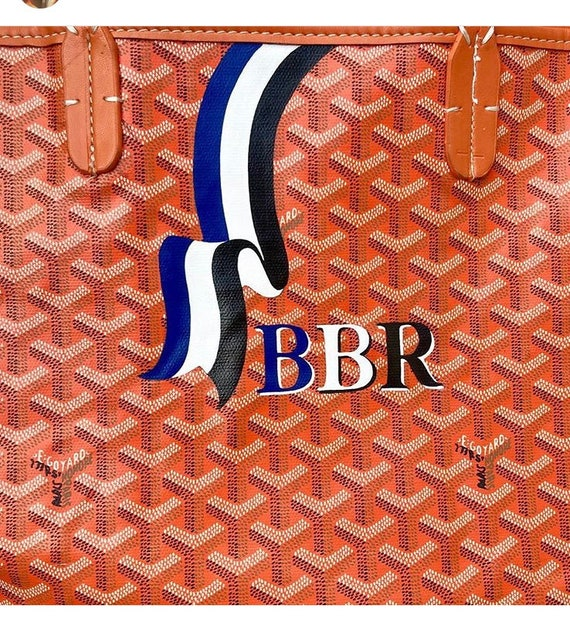 Customized Painted Goyard Bag Ribbon Pick Your Colors And Etsy