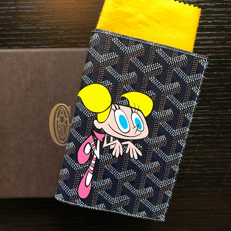 2b8efa7f7211 Custom personalized Goyard wallet or passport case cartoon or