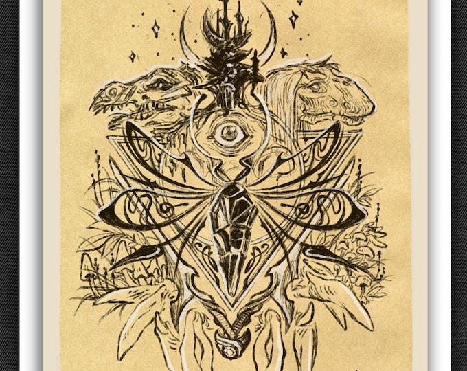 Dark Crystal Print | Dark Crystal Art Print | 5 x 7