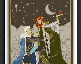 Good Omens Art Print |  Tapestry | 5 x 7