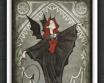 Good Omens Art Print | Crowley Batterina | 5 x 7