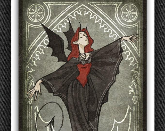 Good Omens Art Print | Crowley Batterina | 5 x 7