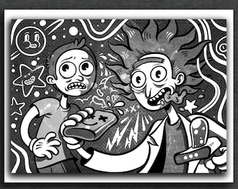 Rick and Morty Print | Rick and Morty Art Print | 5 x 7