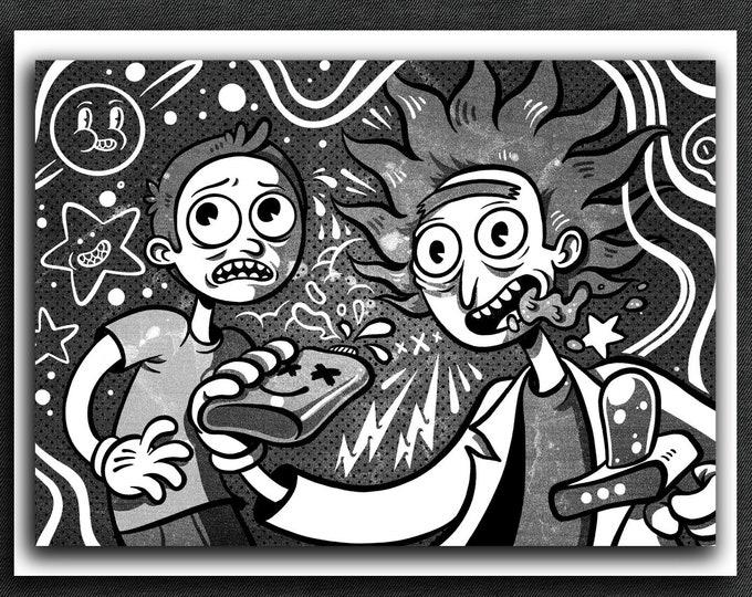 Rick and Morty Print | Rick and Morty Art Print | 5 x 7