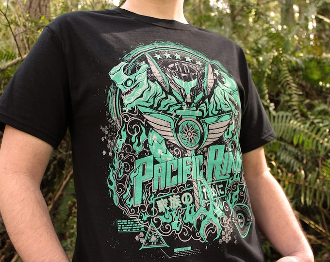Pacific Rim Shirt | Pacific Rim 2 T-shirt | Hand Screen Printed Kaiju Shirt