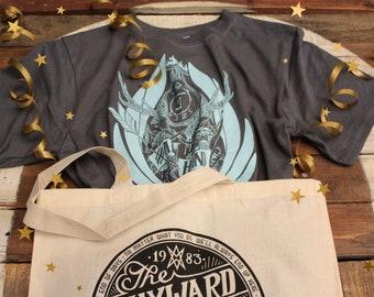 Castiel Supernatural Gift Set   Castiel Shirt & Supernatural Tote Bag   Raised From Perdition Supernatural T-Shirt and Wayward Sons Tote Bag