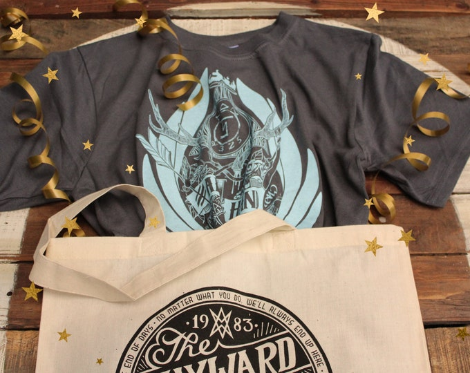 Castiel Supernatural Gift Set | Castiel Shirt & Supernatural Tote Bag | Raised From Perdition Supernatural T-Shirt and Wayward Sons Tote Bag