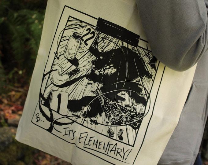 Sherlock Tote Bag [Last Chance] | Sherlock Holmes Tote Bag | Hand Screen Printed Sherlock Gift