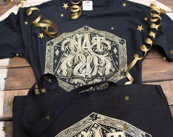 Dungeons and Dragons Gift Set | Natural 20 T-Shirt and Tote Bag | D&D Shirt | DnD Shirt