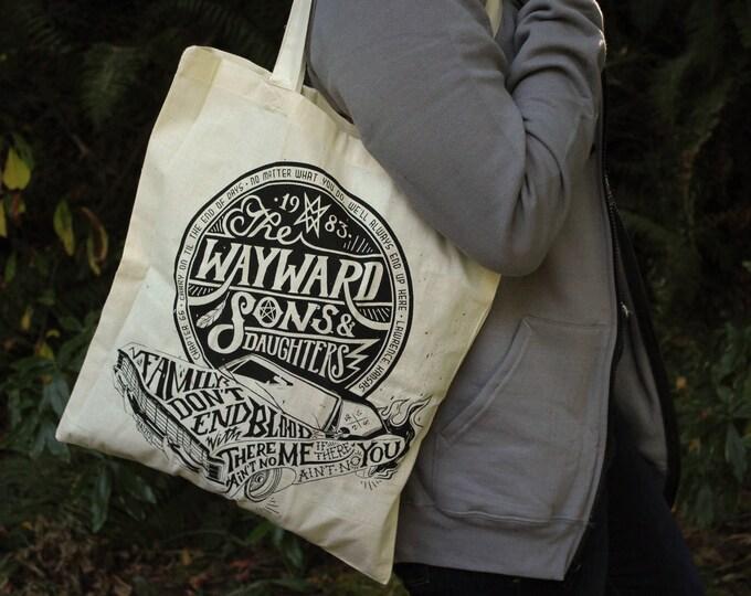 Supernatural Tote Bag | Sam and Dean Winchester Bag | Wayward Sons Tote Bag