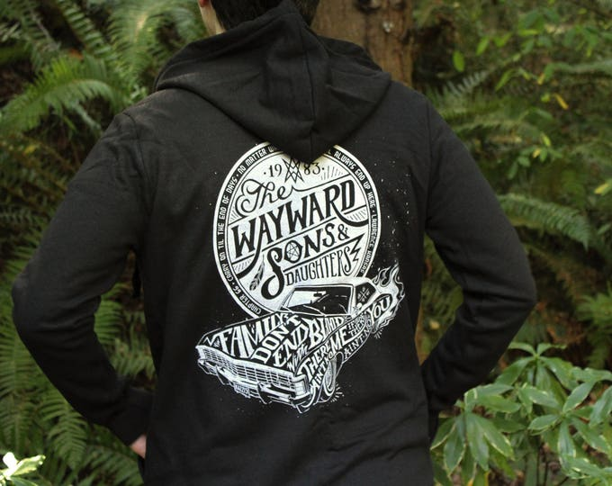 Wayward Sons Supernatural Hoodie | Sam and Dean Winchester Hooded Sweatshirt