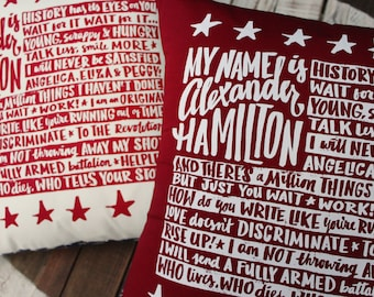 Alexander Hamilton Pillow Covers