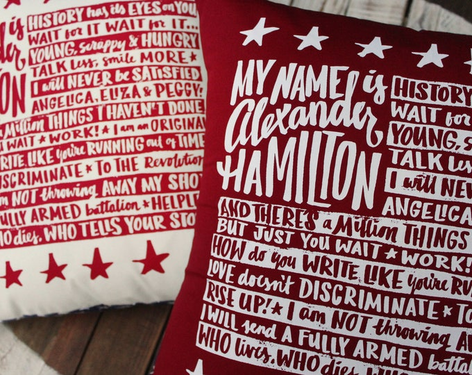 Alexander Hamilton Pillow Covers