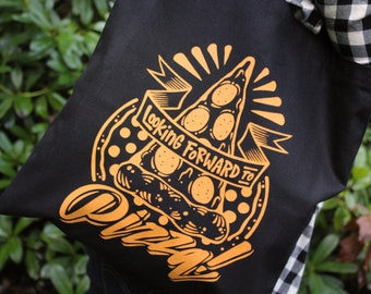 Looking Forward to Pizza Tote Bag | A tote bag for true pizza lovers