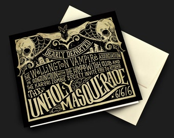 What We Do In The Shadows Card | Invitation to the Unholy Masquerade