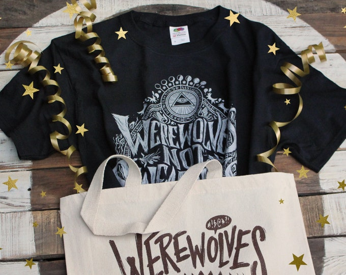 Werewolves Not Swearwolves Gift Set | What We Do In The Shadows Shirt and Tote Bag  |  Werewolves Not Swearwolves T-Shirt