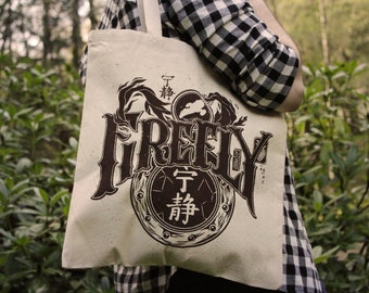 Firefly Tote Bag | Serenity Tote Bag | Hand Screen Printed Cotton Bag | Firefly Reuseable Bag