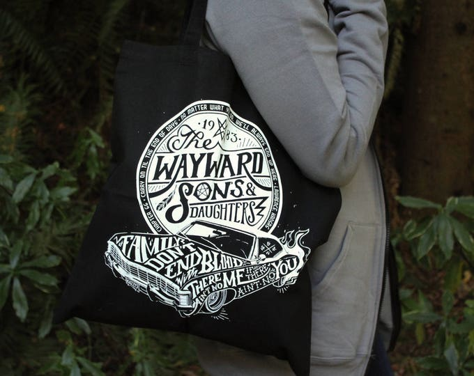 Supernatural Tote Bag | Sam and Dean Winchester Bag | Wayward Sons Tote Bag