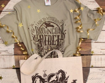 Browncoat Rebel Firefly Gift Set | I aim to misbehave Firefly T-Shirt and Firefly Tote Bag