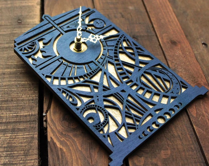 Doctor Who Clock | TARDIS Blue Wall Clock | Gallifreyan Clock | Doctor Who Gift