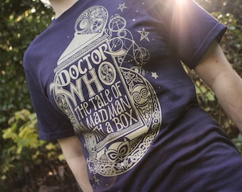 Doctor Who Shirt | The Tale of a Mad Man With A Box | Gallifreyan TARDIS T-Shirt