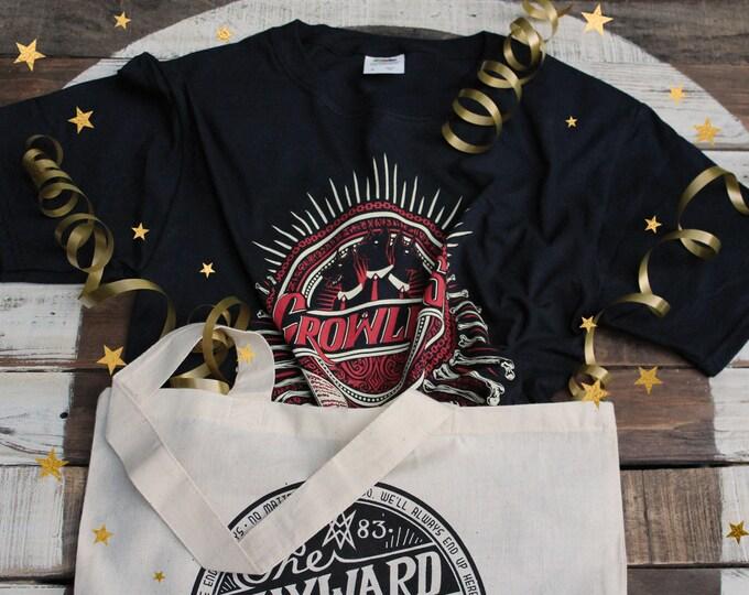 Crowley Supernatural Gift Set | Crowley Shirt & Wayward Sons Tote Bag | Hand Screen Printed Supernatural T-Shirt