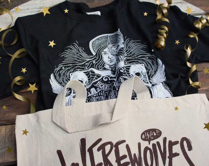 What We Do In The Shadows Gift Set | Unholy Masquerade Shirt & Werewolves Not Swearwolves Tote Bag