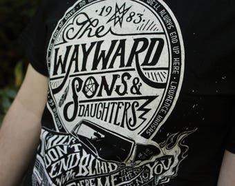 Supernatural Shirt  | Wayward Sons and Daughters Supernatural T-Shirt | Sam and Dean Winchester shirt |  Available In Plus Sizes