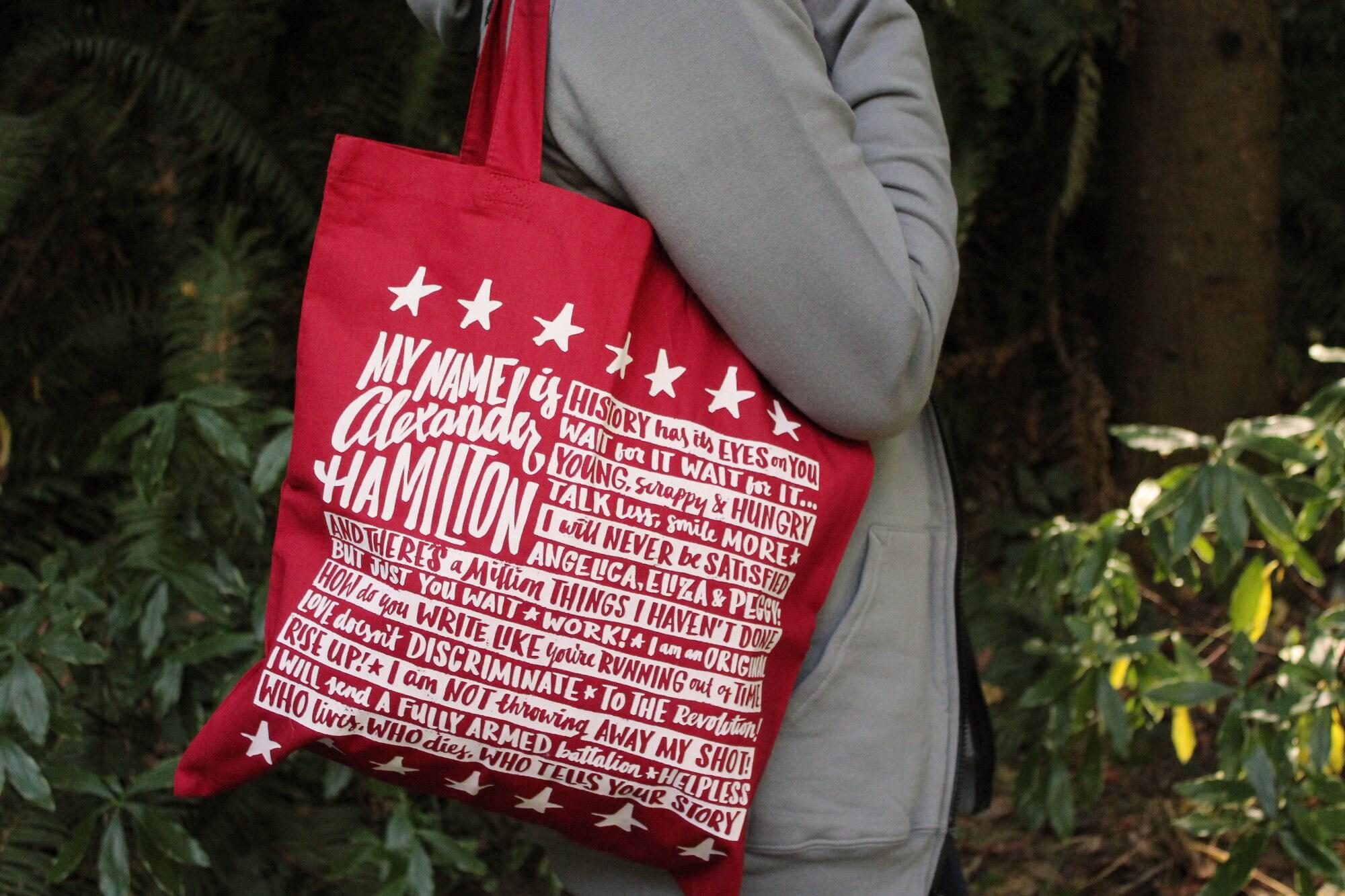 8fdff124595f Red Alexander Hamilton Tote Bag