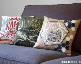 Supernatural Pillows | Supernatural Home Decor | Supernatural Throw Pillow Covers | Sam and Dean Winchester Pillow | Castiel Pillow | Impala