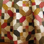 Quilt Handmade Traditional Lap Quilt Homemade Home Decor Quilted Throw Patchwork Handmade Gifts Throw Quilt