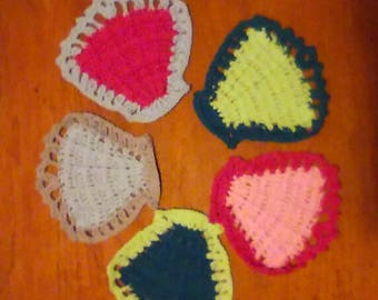 Seashell Face cloths made from organic cotton by 'lizbeth's crochet