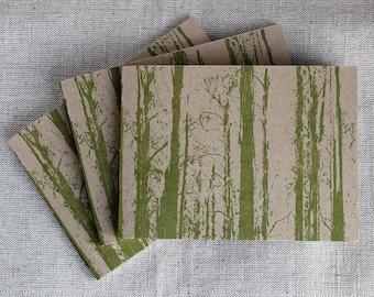 Rainforest Handbound, Letterpressed Notebook