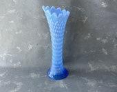 Vintage Northwood Vase, blue